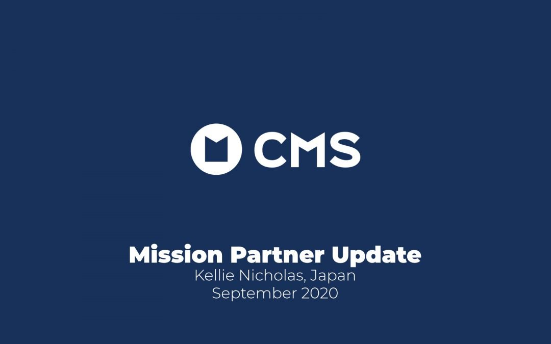Mission Partner Update: Kellie Nicholas, Japan (September 2020)