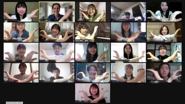 Picture of Hyogo block welcome party (5 first year students attended)